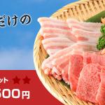 キャンプやレジャーは大満足の「焼肉セット」!5月31日まで!店頭限定の特別価格!